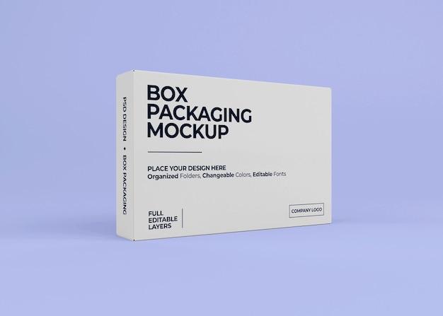 Projekt makiety realistyczne pudełko na białym tle