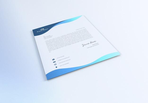 Projekt makiety realistycznego papieru firmowego