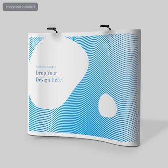 Projekt makiety ściany tylnej lub fotokomórki