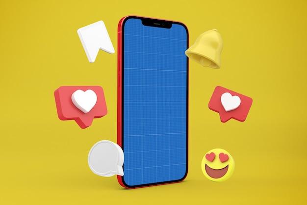 Projekt makiety smartfona do mediów społecznościowych