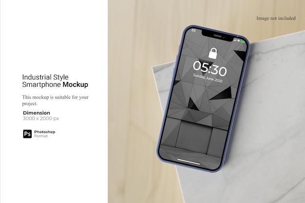 Projekt makiety smartfona w stylu industrialnym