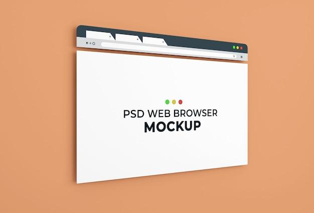 Projekt makiety strony przeglądarki internetowej