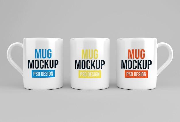 Projekt makiety szklanego kubka do kawy lub herbaty