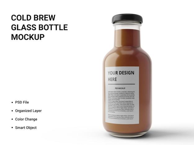 Projekt makiety szklanej butelki na zimno