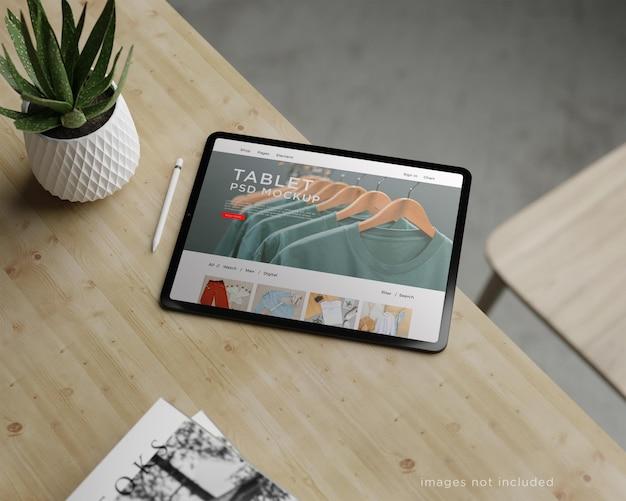 Projekt makiety tabletu na pełnym ekranie
