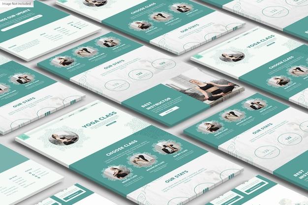 Projekt makiety wyświetlacza internetowego 3d