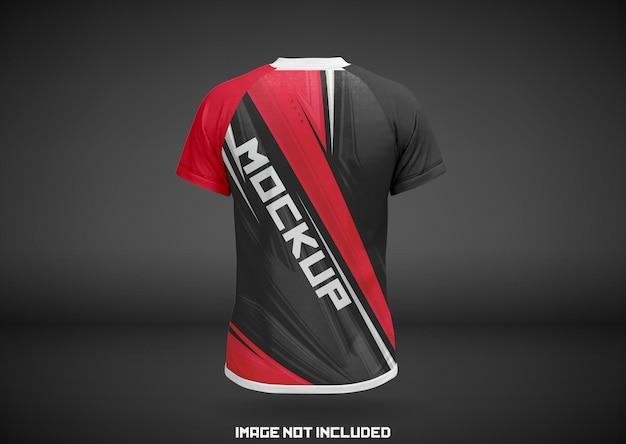Projekt makiety z tyłu koszulki sportowej