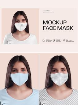 Projekt maski na twarz makiety
