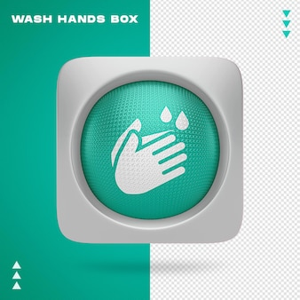 Projekt mycia rąk w renderowaniu 3d