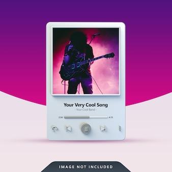 Projekt odtwarzacza muzyki 3d dla postów w mediach społecznościowych
