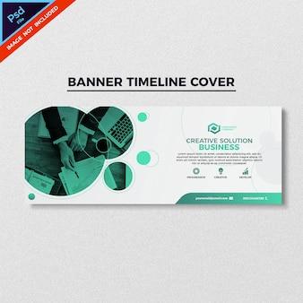Projekt okładki linii stylu zielony biznes transparent