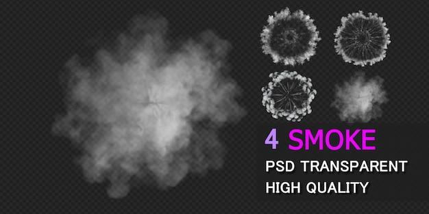 Projekt pakietu wybuch dymu na białym tle
