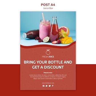 Projekt plakatu baru naturalnego soku