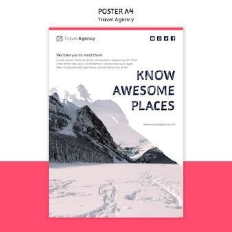 Projekt plakatu biura podróży