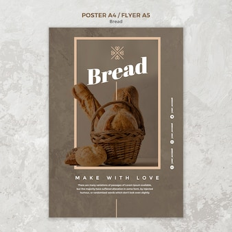 Projekt plakatu biznesowego chleba