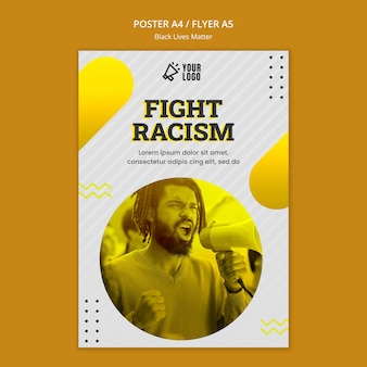 """Projekt plakatu """"czarny życie ma znaczenie"""""""