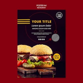 Projekt plakatu dla restauracji