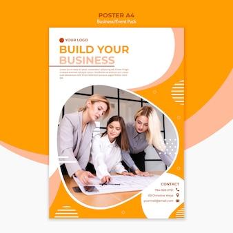 Projekt plakatu do budowania biznesu