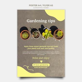 Projekt plakatu hobby ogrodnicze