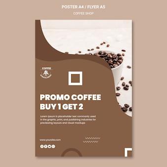 Projekt plakatu kawiarni