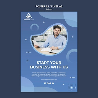 Projekt plakatu koncepcja biznesowa