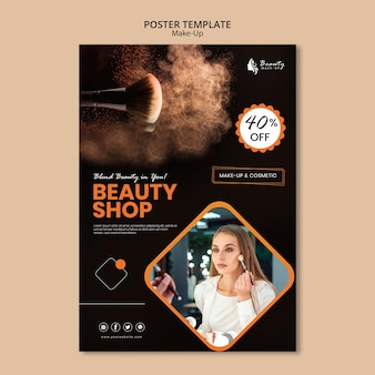 Projekt plakatu koncepcja makijażu