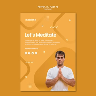 Projekt plakatu koncepcja medytacji