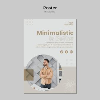 Projekt plakatu koncepcja minimalizmu