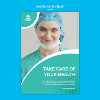 Projekt plakatu koncepcja opieki zdrowotnej