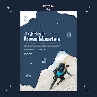 Projekt plakatu koncepcja piesze wycieczki