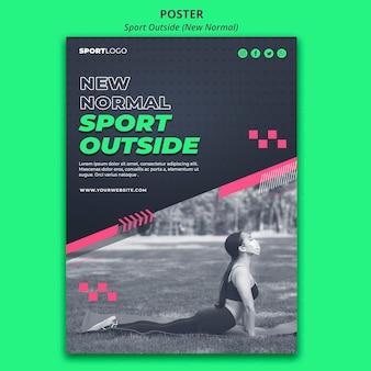 Projekt plakatu koncepcja sportu na zewnątrz