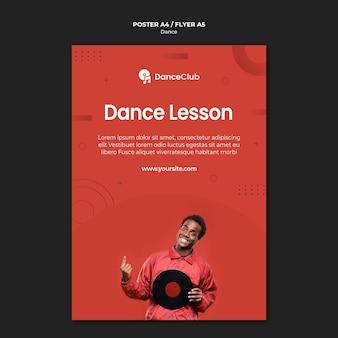 Projekt plakatu lekcji tańca