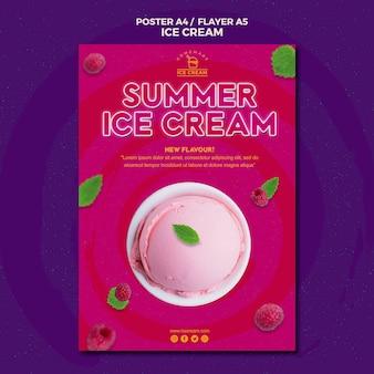 Projekt plakatu lody
