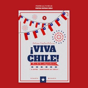 Projekt plakatu międzynarodowego dnia chile