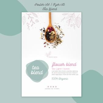 Projekt plakatu mieszanki herbaty