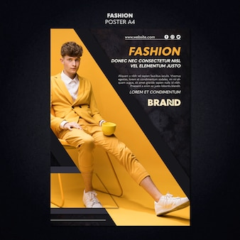 Projekt plakatu mody