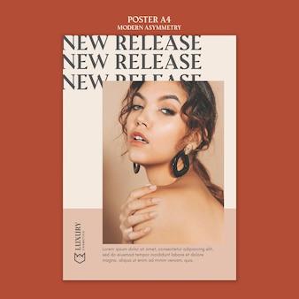 Projekt plakatu nowoczesny asymetria