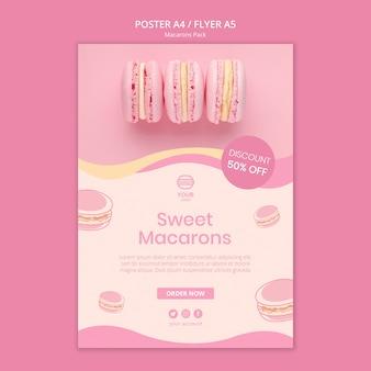 Projekt plakatu paczka macarons
