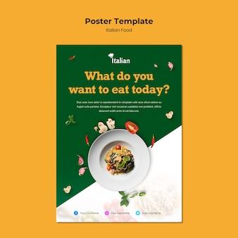 Projekt plakatu włoskiego jedzenia