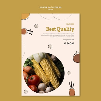 Projekt plakatu z przepisem najwyższej jakości