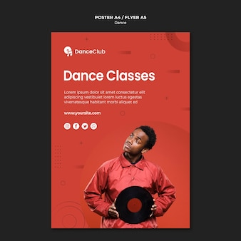 Projekt plakatu zajęć tanecznych