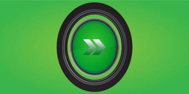 Projekt psd zielony przycisk