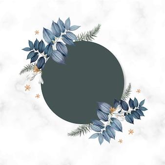Projekt pusty rama karta kwiatowy