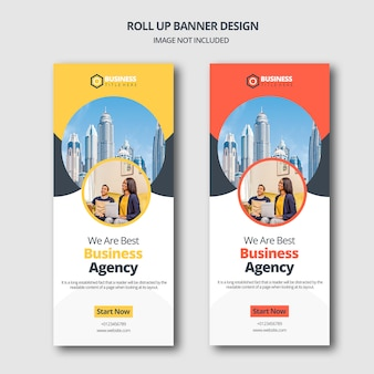 Projekt roll up banner firmy