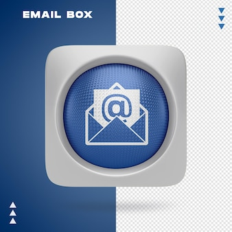 Projekt skrzynki e-mail w renderowaniu 3d