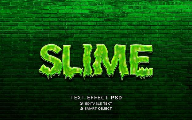 Projekt śluzu z efektem tekstowym