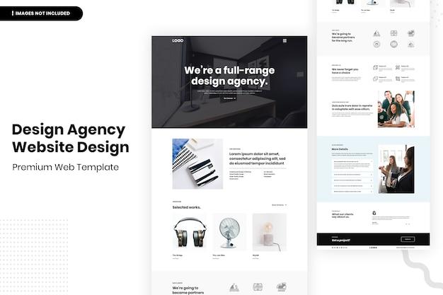 Projekt strony internetowej agencji projektowej
