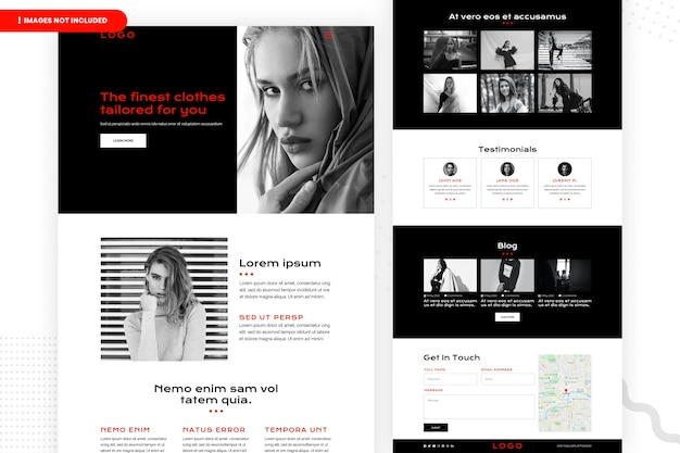 Projekt strony internetowej zakupów