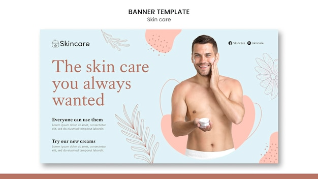 Projekt szablonu banera do pielęgnacji skóry