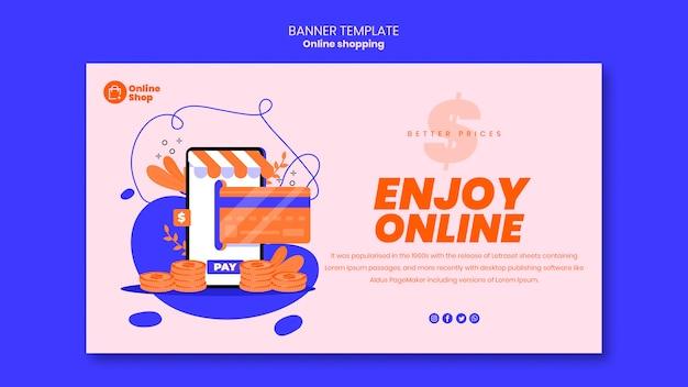 Projekt szablonu banner zakupy online